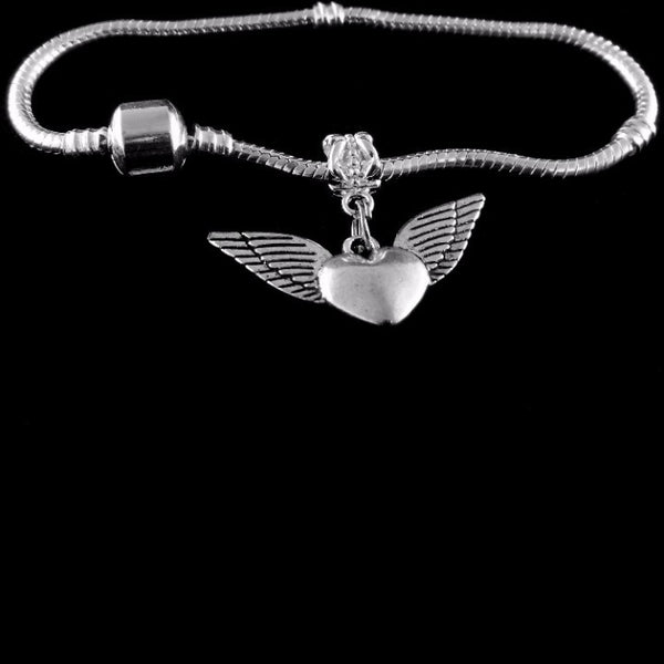 Winged Heart Charm SC Bracelet