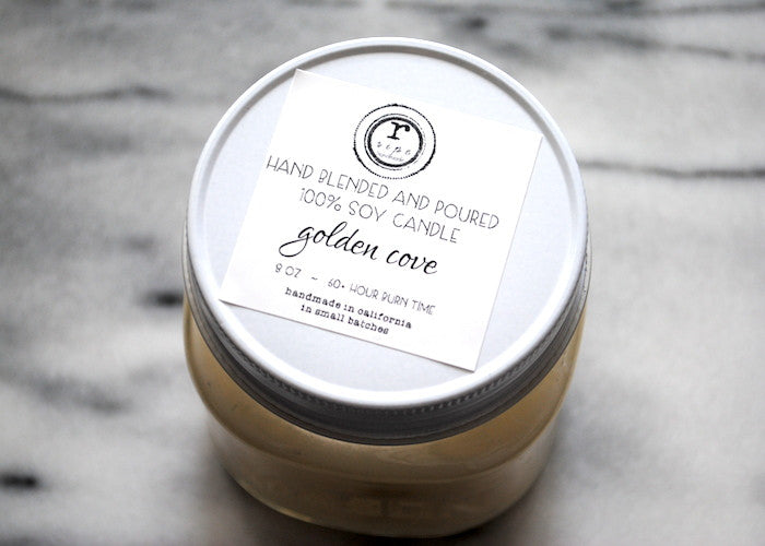 Golden Cove Soy Candle