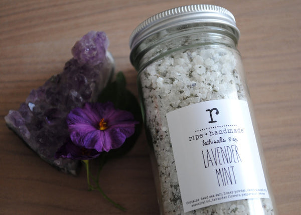 Lavender Mint Honey Sea Salt Soak