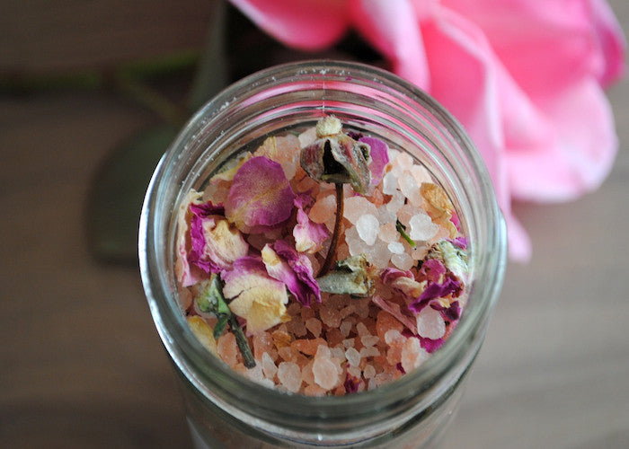 Rose Litsea Sea Salt Soak