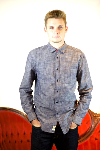 Round Pocket Chambray