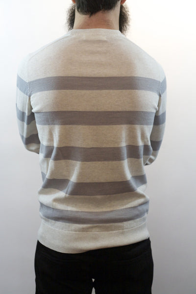 Striped Crew Neck Sweater - River Marl