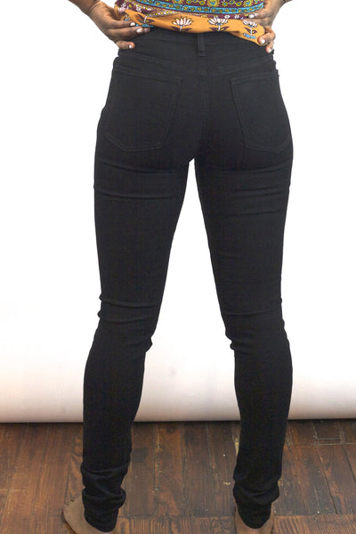 High Waisted Skinnies 'Black Magic'