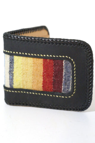 Billfold With Braided Edge Black
