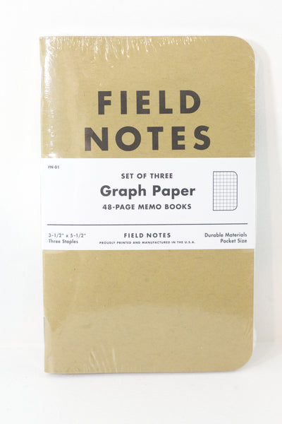 Graph Paper Notebook 3 Pack