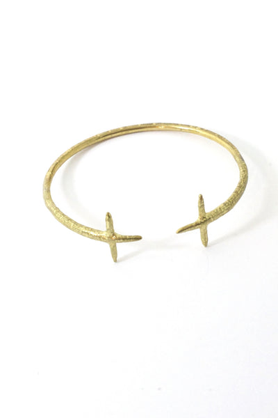 Double Cross Cuff Brass