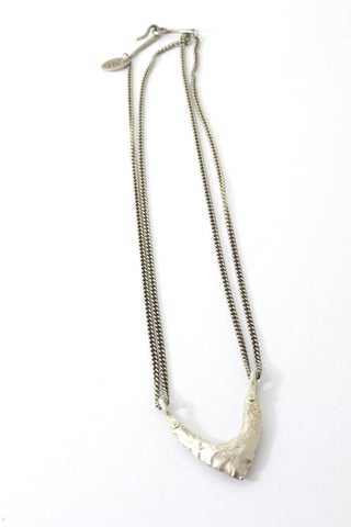 One Peak Necklace Sterling Silver