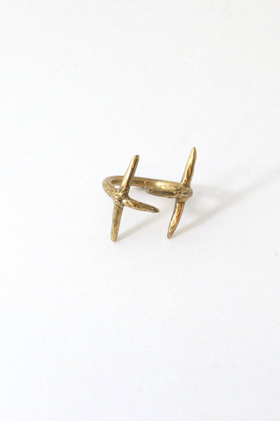 Double Cross Ring Bronze
