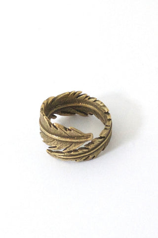 Feather Ring Bronze