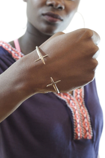 Double Cross Cuff Sterling