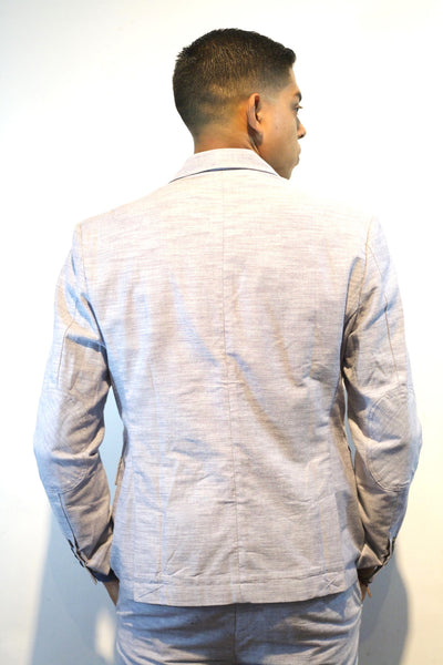 Light Chambray 2 Button Blazer Miami