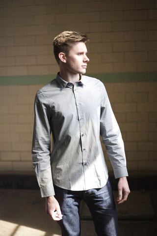 LS Spot & Cross Pattern Shirt