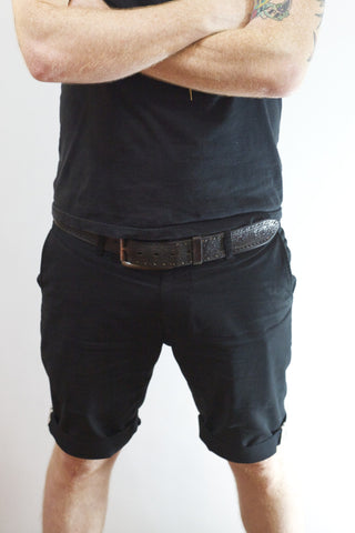 EC1 Slim Stretch Chino Short - Black