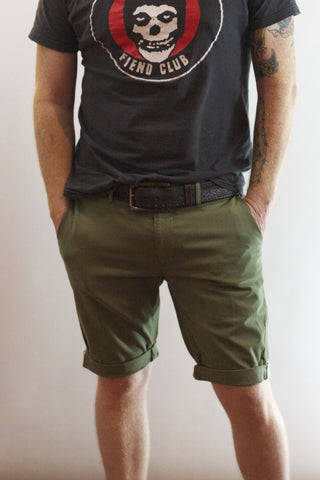 EC1 Slim Stretch Chino Short - Four Leaf Clover