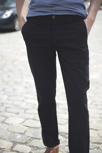 EC1 Slim Stretch Chino - Black
