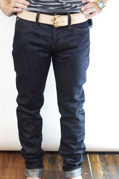 UB101 Skinny Fit 14oz Raw Selvedge Denim Indigo
