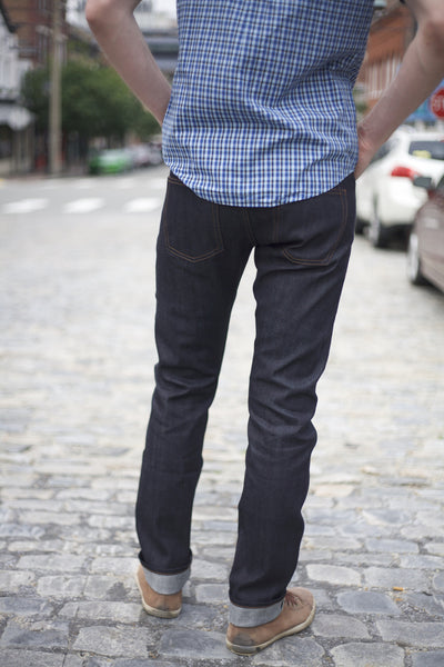 UB122 11oz Skinny Fit Stretch Raw Selvedge Denim Indigo