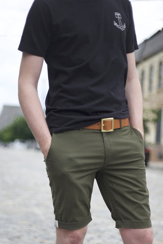 EC1 Slim Stretch Chino Short - Military Green