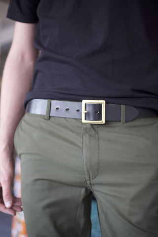 "1.5"" Leather Belt Black"