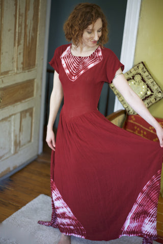 Navajo Dress Deep Red