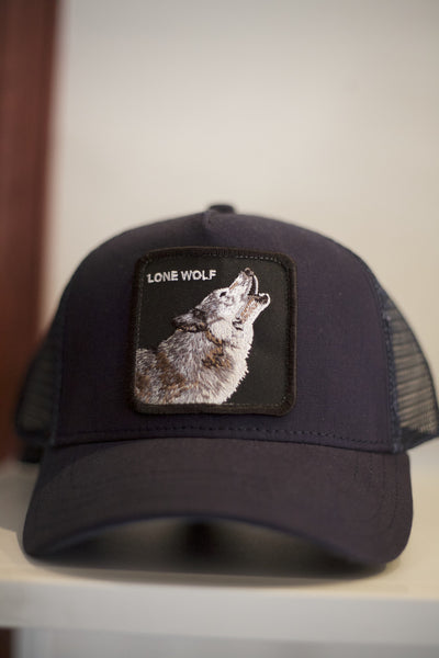 dfdc8d072aba7 Lone Wolf Snap Back Trucker Hat – Y H Mercantile