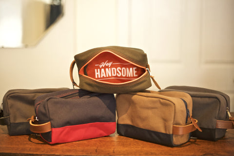 Hey Handsome Shaving Kit Bag
