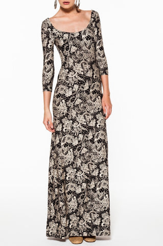 Lee Maxi Dress-Black Rosewood