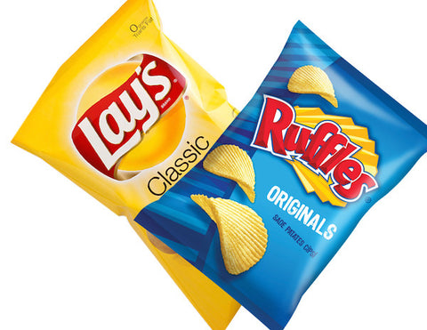 Ruffles, Doritos, Miss Vickies & Lays