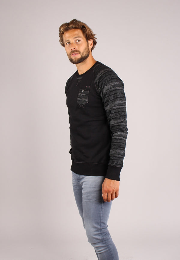 77109 sweater met raglanmouwen | Black