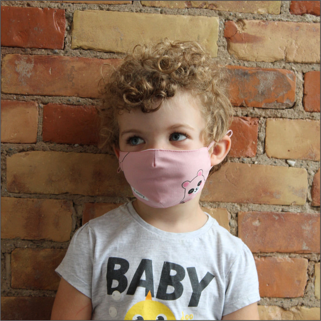 CHILDS 2 PLY COTTON MASK WITH GRAPHICS