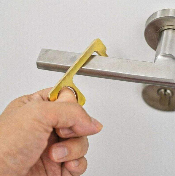 Hygiene Key - Antimicrobial Brass Door Opener & Stylus
