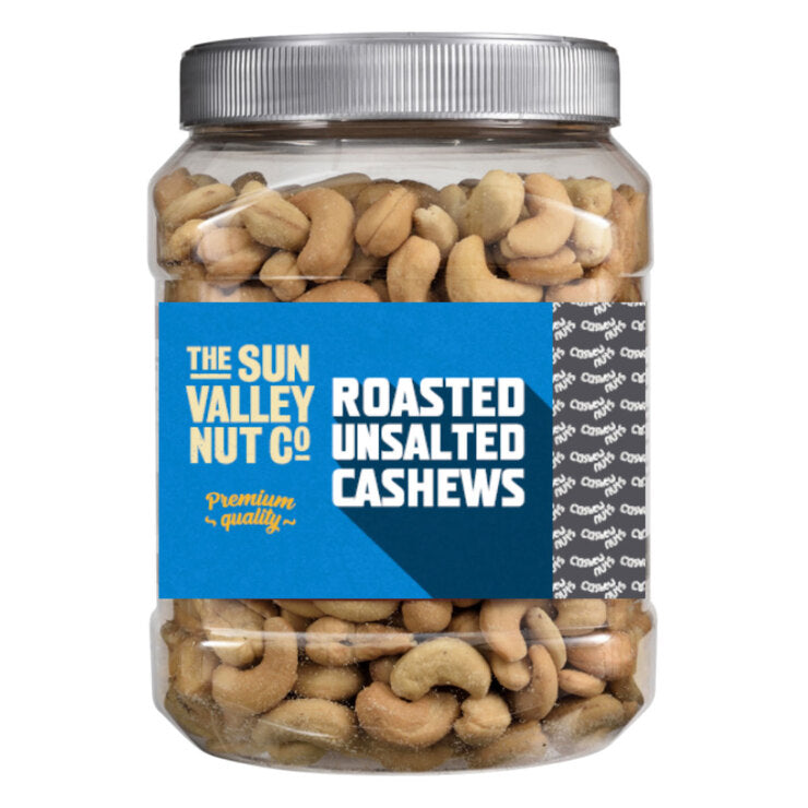Sun Valley Roasted Unsalted Cashews, 1.13kg