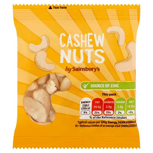 Sainsbury's Cashews 30g