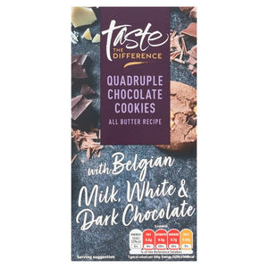Sainsbury's Quadruple Chocolate Cookies, Taste the Difference 200g