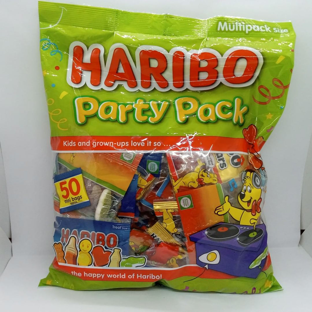 Haribo Party Pack 50 Mixed Bags Giant Mega Big Variety Ideal Kids Sweets 1.25kg