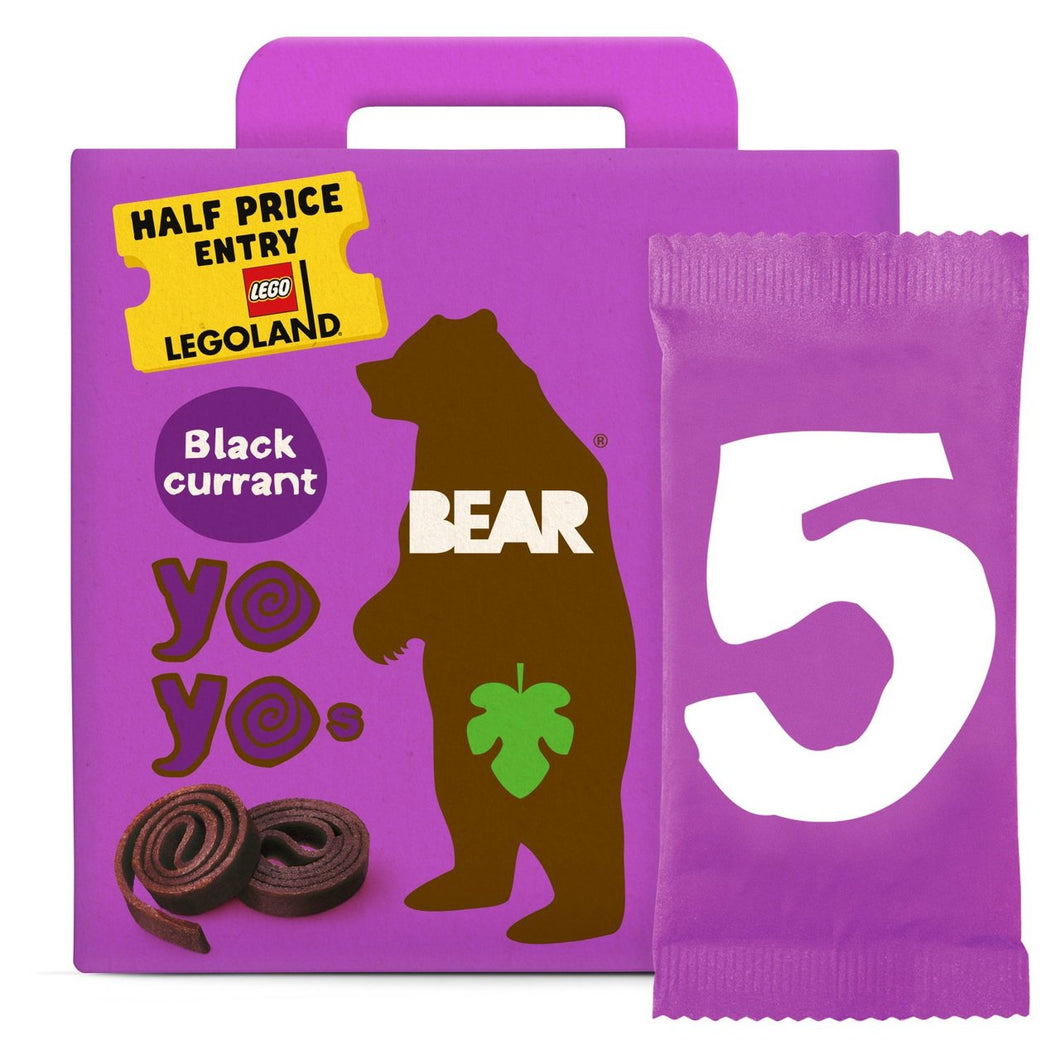 Bear Fruit Yoyos Blackcurrant Multipack 5X20G