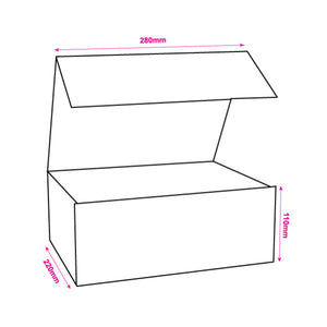 220x280x110mm White Magnetic Gift Boxes