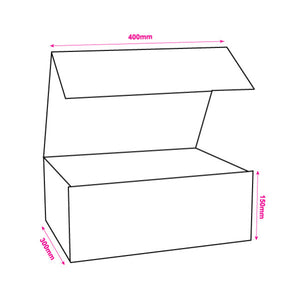 Large 300x400x150mm Deep White Magnetic Gift Boxes