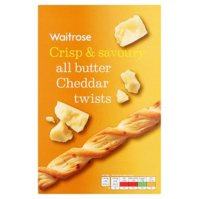 Waitrose all butter cheese twists 125g