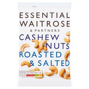 Essential Waitrose Cashew Nuts Roasted and Salted 200g