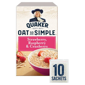 Quaker Oat So Simple Strawberry, Raspberry & Cranberry 10 x 33.9g