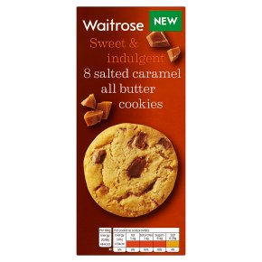 Waitrose 8 Salted Caramel All Butter Cookies 200g