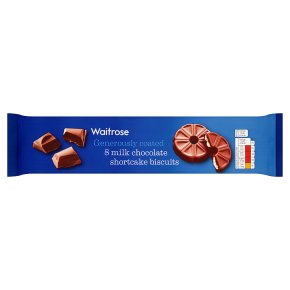 Waitrose 8 Milk Chocolate Shortcake Biscuits 180g
