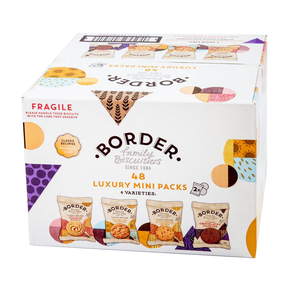 Border Biscuits Luxury Mini Twin Packs, Pack of 48