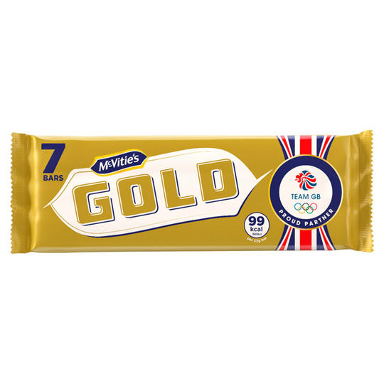 McVitie's Gold Caramel Flavoured Biscuits Bars 7 pack