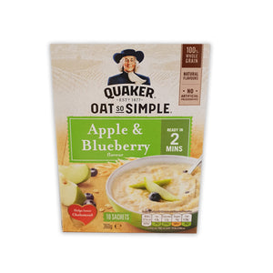 Quaker Oat So Simple Apple And Blueberry Porridge – 10 x