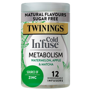 Twinings Cold Infuse Metabolism with Zinc, 12 Infusers 12 per pack