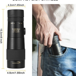 4K 10-300X40mm Super Telephoto Zoom Monocular Telescope(Released in July 2020)