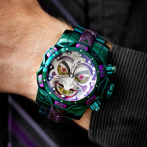 2020-DC COMICS JOKER-CLOWN JOINT NAME LARGE DIAL LUMINOUS MEN'S WATCH