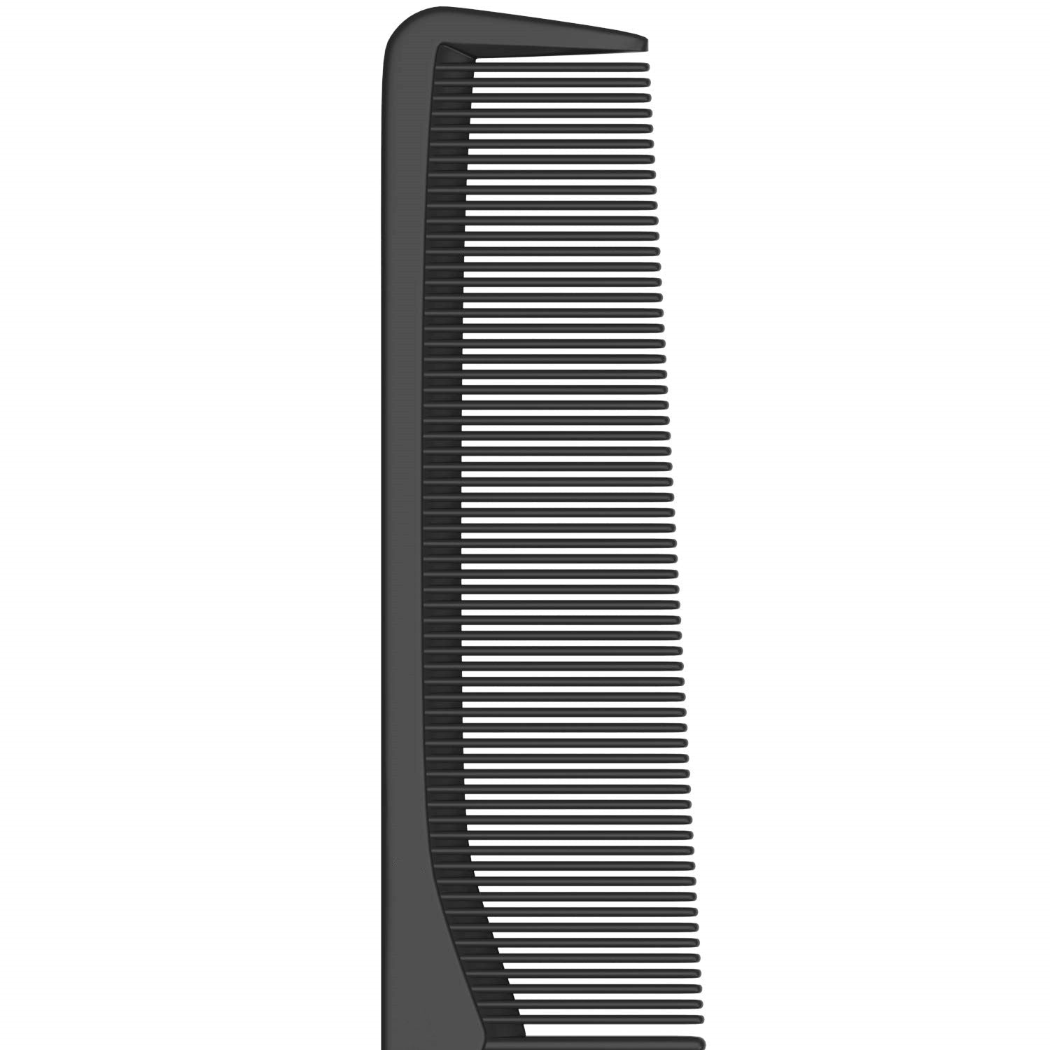 Styling Comb - Fine and Wide Tooth Hair Barber Comb - Black Carbon Fiber Anti Static Chemical And Heat Resistant Comb
